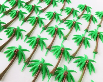 Palm Tree Picks Extra Large Plastic Cake Toppers Lot