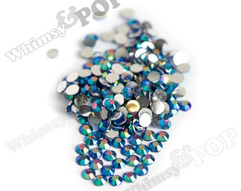 SS16 - 250 to 1000 PACK - Montana Blue AB Crystal Faceted Resin Rhinestones, SS16 Resin Flatback Rhinestones, 4mm Resin Rhinestones