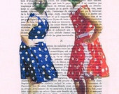 Rock & roll Rabbits - Coco de Paris, digital painting, animal artwork, bunny, pin-up poster, bunny painting, rabbit art, sixties