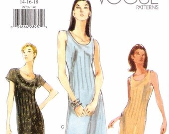 Sleeveless Summer Maxi Dress Vogue 9970 (Womens sizes 14-16-18)
