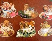 Die Cut Tea Cup Notecards