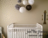 Gold Wall Decals Polka Dots Wall Decor - Confetti Polka Dot Wall Decals Set of 105
