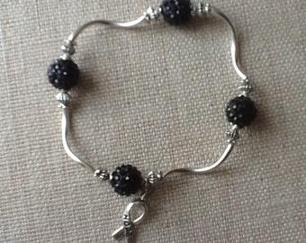 031  Melanoma Cancer Awareness Bracelet