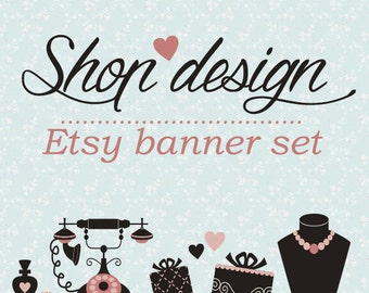 Jewelry Banner, Shop Graphics, Etsy banner, Beaded Jewelry Etsy Banners