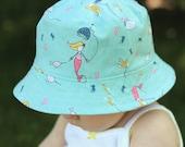 girl's bucket hat, saltwater, reversible, 2 sizes - LAST ONE