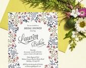 Rose Garden Bridal Shower Invitation Printable Template