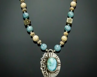 Larimar & Riverstone Necklace