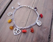 Peace and Calming to the lower chakras charm anklet or bracelet