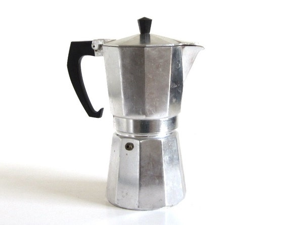 Stovetop Espresso Maker Italian Coffee Pot (Made in Portugal)  Used Gemelli Espresso Makers