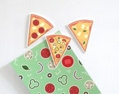 Cute Illustrated Pizza Slice Magnets - Pack of 3