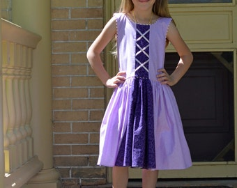 Rapunzel Dress, Girl's Tangled Dress