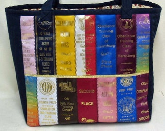 "Show Ribbon Tote 12""x13""x7"" - 1 Outside & 7 Inside Pockets"