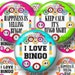"""Bingo, 1"""", 1.25"""", 1.5"""", 2"""" Circles, Digital Collage Sheets, Printable Circles , Printable Images For Cupcake Toppers, Magnets, Tags, Jewelry"""