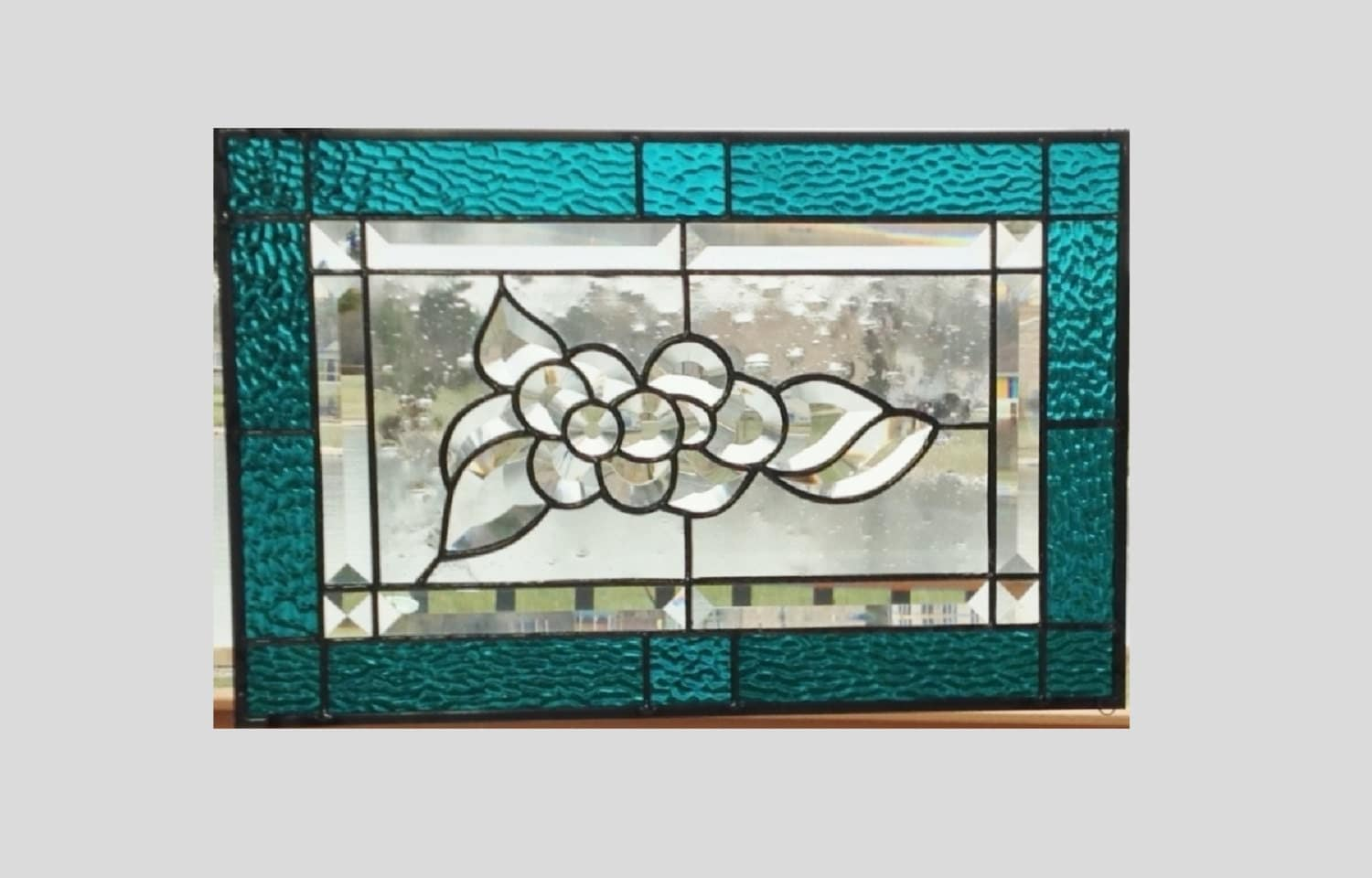 how to glue stained glass to clear glass