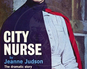 City Nurse - 10x17 Giclée Canvas Print of a Vintage Pulp Paperback Cover
