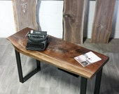 SALE: Live Edge Black Walnut DESK - Natural - Rustic - Charming