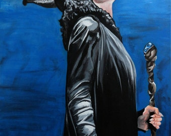 """MALEFICANT Art Print/Reproduction by Violet Love - 10"""" x 12"""""""