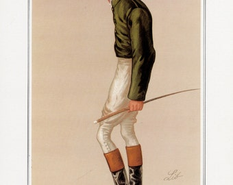 Sporting Print. Jockey Prints in Racing Colors Sporting Life Horse Track Racing. Horse Racing Gambling Betting. Johnny Watts Mr Abington