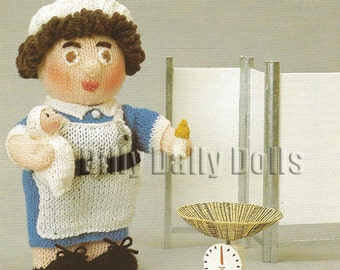 Knitting Pattern For Nurse Doll : Hand Knitted Toy Beatrix Potter Pigling Bland by DillyDallyDolls
