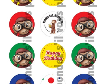 Curious George Cupcake Toppers - DIY