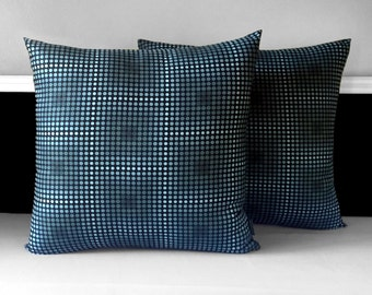 """ON SALE, Pair of Pillow Covers - Metallic Dots 19"""" x 19"""", Ready to Ship"""