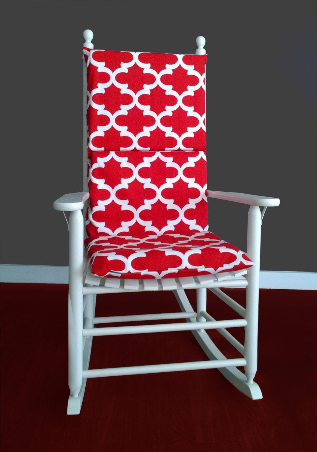 Rocking Chair Cushion Cover Fynn Red
