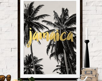 Jamaica Print, Destination Wedding Gift, Jamaica Travel Poster, Palm Tree Photograph, Jamaica Art, Bridesmaid Gift, Gift for Bridesmaid