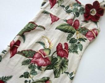Traditional Hawaiian Tunic Dress--- Size 7--Ready to Ship