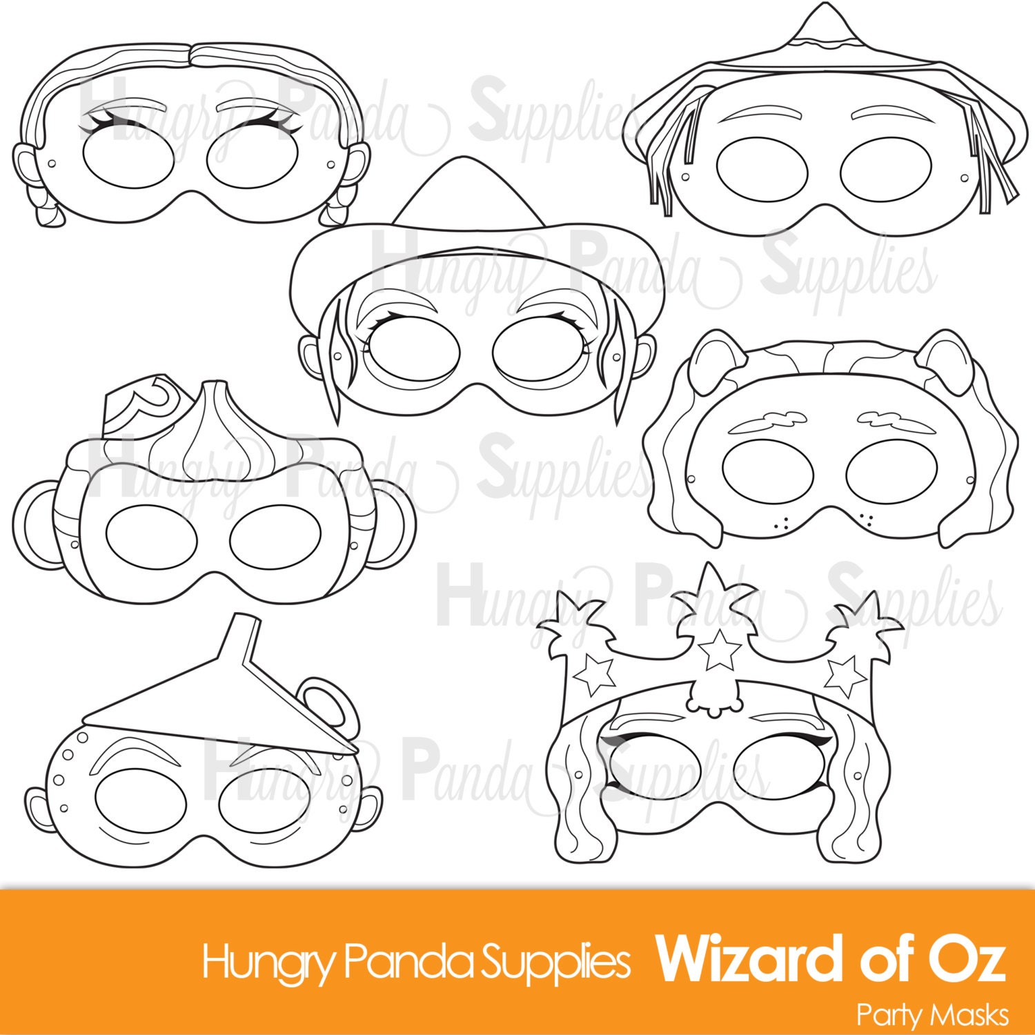 wizard of oz printable coloring masks dorothy mask scarecrow