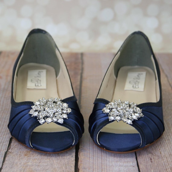 Blue wedding shoes navy blue shoes custom wedding shoes like this item junglespirit Choice Image