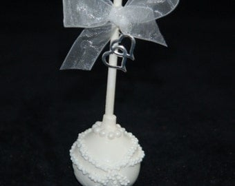 BRIDE CAKE POPS, Wedding Favors, Bridal Shower Favors