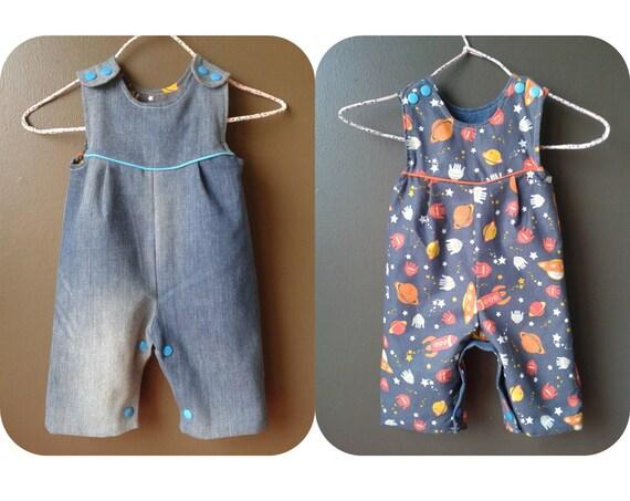 Knitting Pattern Baby Dungarees