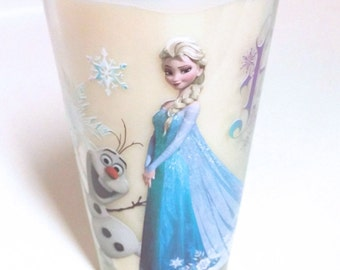 Frozen Soy Candle - 16 oz Elsa and Olaf Glass - CHOICE OF SCENT