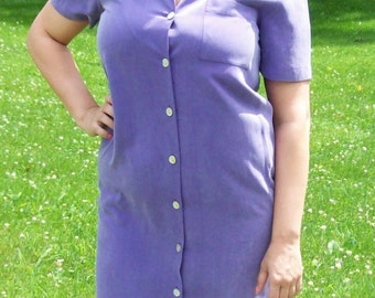 99 CENT SAlE Vintage Ladies Purple Silk Dress by Talbots Size 6 Now .99 USD