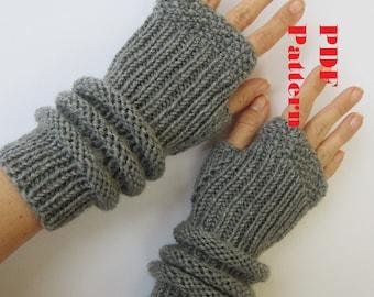 knitting pattern PDF pattern arm warmers wrist warmers gloves mittens PDF