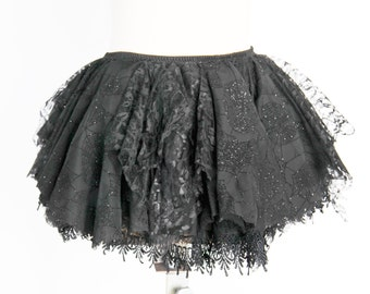 Fairy Lace Gothic Spiderweb Tutu Skirt | Halloween Lace Tutu Skirt | Spider Webs Skirt | Women's Black Lace Tutu | Halloween Costume Cosplay