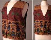 India Embroidered Folk Vest. Size Medium.