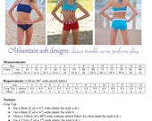 Carly Crop Tops and Bikini Tops Pdf Sewing Pattern in girls sizes 2-14