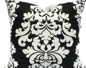 20x20 Pillow Cover, Decorative Pillow, Pillow Cover, Accent Pillow, Ikat Pillow, 18x18 20x20 22x22 or 14x20 Lumbar Pillow, Black and White