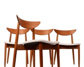 4 Danish Modern Dining Chairs by Moreddi with New Upholstery