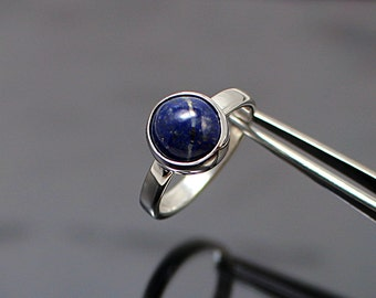 Lapis Lazuli Ring, Lapis Ring, Lapis silver ring, Lapis lazuli jewelry, blue ring, blue solitaire ring, lapis lazuli handmade ring
