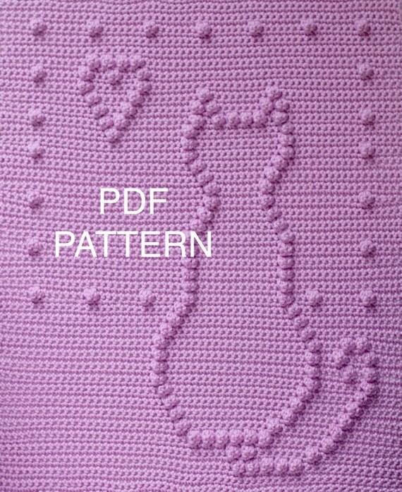 Sitting Kitty Baby Blanket Pattern - Crochet Pattern - Crochet Baby Blanket  - Baby Snuggle Blanket  - Car Seat or Stroller Blanket