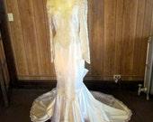 On Sale-Stunning WHITE FISHTAIL Wedding GOWN
