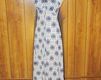 On Sale-Stunning BLUE Abstract MAXI Dress