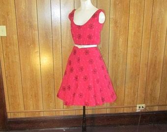 FABULOUS Wool Flowered GARDEN Dress