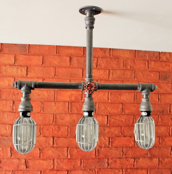 Items Similar To 3 Hanging Pendant Light Silver Cages