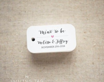 Mint To Be Wedding Favor Tags - Personalized Gift Tags - Custom Wedding Favor Tags - Bridal Shower Tags - Set of 40 (Item code: J517)