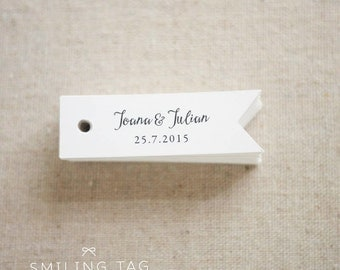 Romantic Elegance Personalised Gift Tags - Wedding Favor Tags - Thank you tags - Hang tags - Wedding Gift Tags - Set of 40 (Item code: J496)