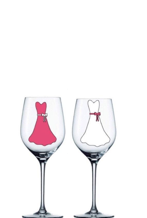 Printed Wedding Wine Glasses : Personalized Wine Glasses Bridesmaid Wine Glass Custom