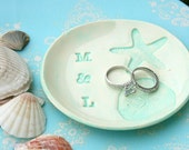wedding ring dish / rustic wedding ring holder / beach wedding / ring bearer dish / personalized ring bearer holder